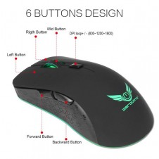 Rechargeable Wireless Mouse -6-Button 2.4G 2400 DPI