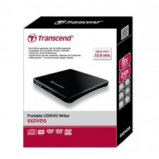 Transcend 8K Extra Slim Portable DVD Writer Optical Drive