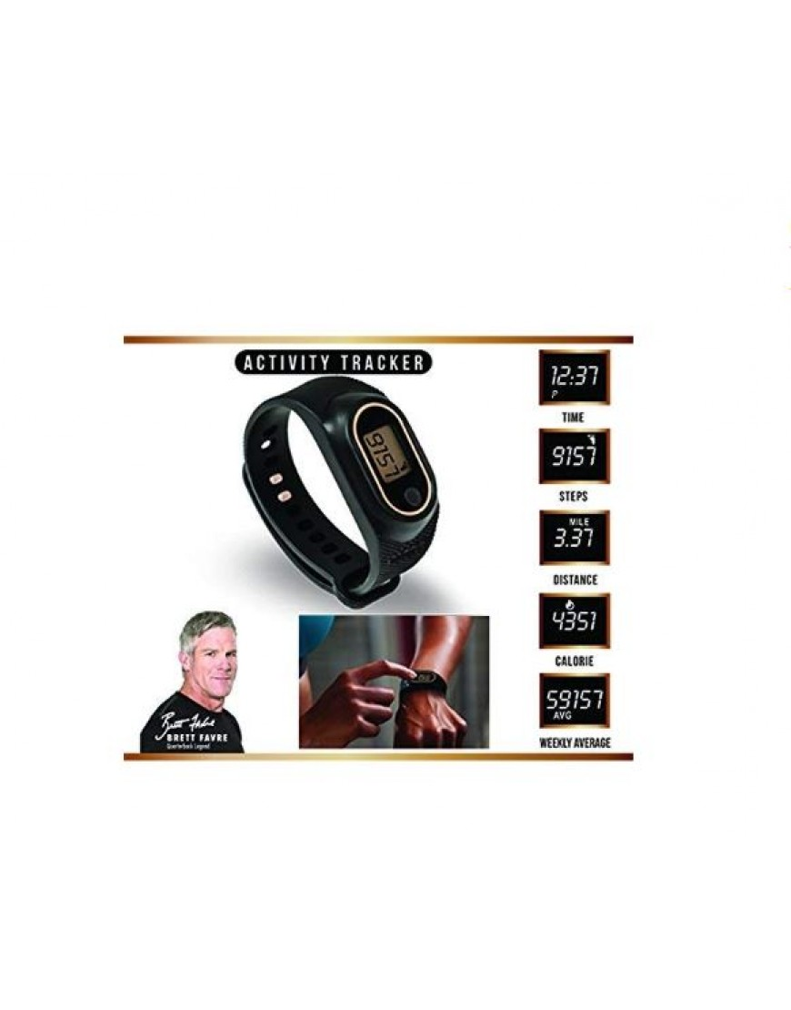 Black Wristband Copper Fit Step FX Wireless Activity Tracker